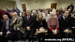 Заля на адным з пасяджэньняў суду над Бяляцкім