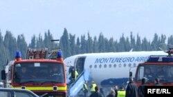 Avion po povratku u Podgoricu, Foto: Savo Prelević