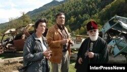 Первые лица Грузии побывали в контролируемой Тбилиси «Верхней Абхазии» в сентябре 2006 года