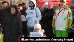 Киров, митинг в защиту прав многодетных матерей, 20 февраля 2016 года