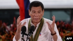 Philippine President Rodrigo Duterte (file photo)