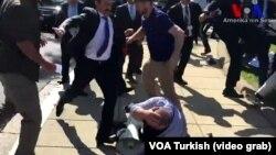 Драка перед резиденцией посла Турции в США