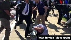ԱՄՆ - Թուրքիայի նախագահի թիկնապահները և աջակիցները ծեծում են խաղաղ ցուցարարներին, Վաշինգտոն, 16-ը մայիսի, 2017թ․