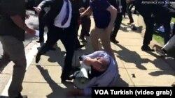Тепачка при посетата на Ердоган на САД
