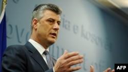 Прес конференцијата во Приштина на косовскиот премиер Хажим Тачи