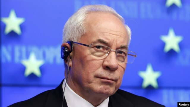"Ukrainian Prime Minister Mykola Azarov: ""In reality, there was no reduction in price."""