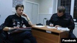 Никита Ильин в полицейском участке