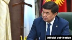 Мухаммедкалый Абылгазиев в бытность премьер-министром. 2020 год.