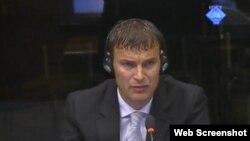 Evledin Pašić svjedoči na suđenju Ratku Mladiću, 10. srpanj 2012.