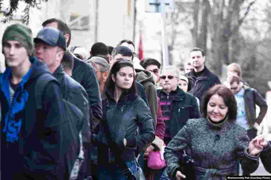 Выборы президента РФ в Центре культуры и науки при посольстве России в Чехии.