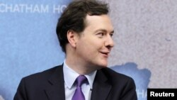 جورج آزبورن وزیر مالیۀ بریتانیا