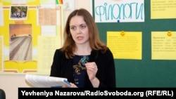 Вчителька історії колегіуму «Елінт» Олександра Лихолай