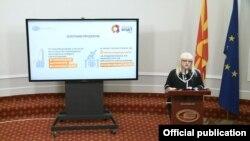 Архива: Министерката за образование и наука Рената Дескоска го презентира Буџетот за образование за 2018 година.