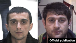 Azerbaijan's Interior Ministry says murder Rasad Boyukkisiyev (left) was killed after he resisted arrest. Another suspect, Farux Qasimov (right), has been detained.
