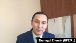 Руководитель отдела военно-мобилизационной работы, гражданской обороны и чрезвычайных ситуаций аппарата акима города Актобе Бекболат Нурышев. 12 февраля 2018 года.