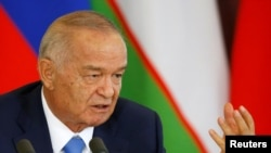 Президент Узбекистана Ислам Каримов. Москва, 26 апреля 2016 года.