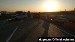 Авария на трассе «Керчь-Феодосия» в районе поворота на с. Виноградное Ленинского района, 1 июня 2018 года