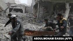 Evakuacija povređenih civila, Guta