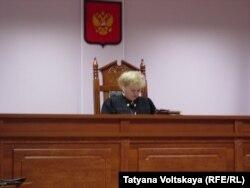 Судья на процессе по делу Зарины Юнусовой