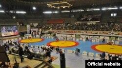 Зал, где проходил чемпионат мира по самбо. Марокко, 15 ноября 2015 года.