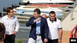 Премиерот Никола Груевски во посета на Дојран, 2013.