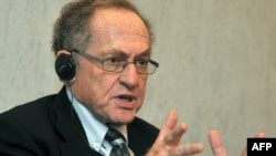 "Alan Dershowitz says that having outside lawyers like himself involved ""helps to bring a single standard of justice to the world [and] certainly to those countries that are interested in having the rule of law prevail."""