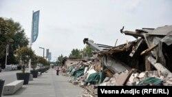 Porušeni objekti u Savamali