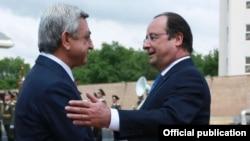 Հայաստանի և Ֆրանսիայի նախագահների հանդիպումը Երևանում, 13-ը մայիսի, 2014թ․
