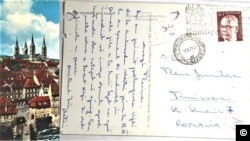 """Vedere trimisă de """"Matei"""" ofiţerului, Florin Dumitrescu (Foto: ACNSAS)"""