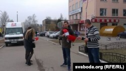 """Каля """"Эвікома"""" 25 сакавіка"""