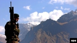 یک سرباز ارتش ترکیه در جنوب شرق این کشور.