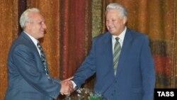 Борис Ельцин и Сергей Филатов, 1996 год
