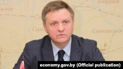 Аляксандар Чарвякоў, міністар эканомікі Беларусі.