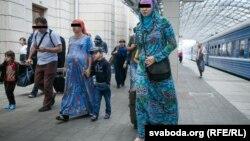 Чеченские мигранты, прибывшие в Беларусь