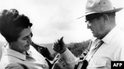 Jovanka Broz i Josip Broz Tito u oktobru 1977.