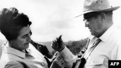 Jovanka Broz i Josip Broz Tito, oktobar 1977.