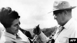 Jovanka Broz sa Titom, 1977.