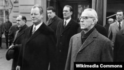Willy Brandt (L) i Willi Stoph u Erfurtu, 19.03.1970.