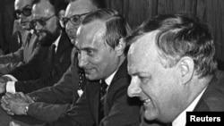 Анатолий Собчак и Владимир Путин