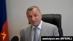 Armenia -- Vasili Korchmar, the Russian consul in Gyumri, is interviewed by RFE/RL's Armenian service.