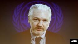 Джулиан Ассанж 23 марта 2015 года выступил по веб-связи на заседании Совета по правам человека ООН в Женеве
