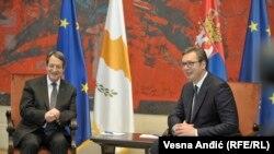 Nikos Anastasiadis i Aleksandar Vučić