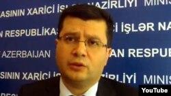 Руководитель Пресс-службы Министерства иностранных дел Азербайджана Эльман Абдуллаев, п 2012