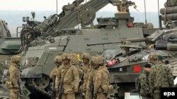 Soldați britanici la exerciții militare în Polonia