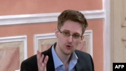 Edward Snowden in Moscow in October