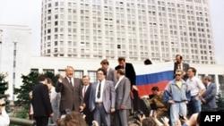 Оьрсийчоь -- Оьрсийчоьнан Федерацин президент Ельцин Борис къамел деш ву КIайн ЦIийнан хьалха, 19Марс1991