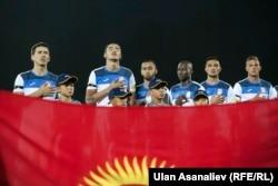 Кыргызстандын футболчулары.