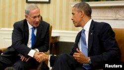 ԱՄՆ-ի նախագահ Բարաք Օբաման և Իսրայելի վարչապետ Բենյամին Նաթանյահուն հանդիպում են Սպիտակ տանը, Վաշինգտոն, 30-ը սեպտեմբերի, 2013թ․