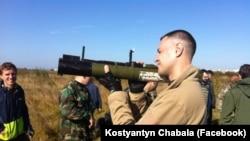 Константин Чабала у районе боевых действий
