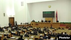 Armenia -- A session of the National Assembly.